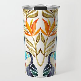 Tropical Toucans – Sepia Palette Travel Mug