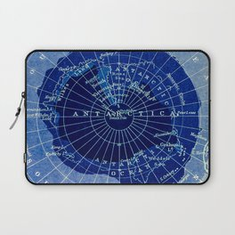 South Pole Neon Map Laptop Sleeve