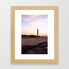 Barnegat Lighthouse Sunset Framed Art Print
