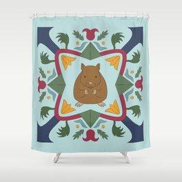 Mouse German Hex Folk Art Shower Curtain