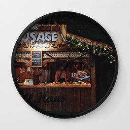 Xmas market Wall Clock