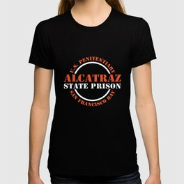 Alcatraz Symbol T-Shirt US Penitentiary Prisoner Jail Tee T-shirt