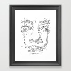 Salvador Dalì WordsPortrait Framed Art Print