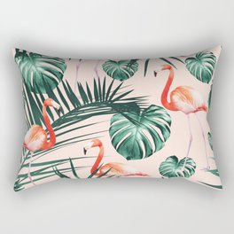 Tropical Flamingo Pattern #2 #tropical #decor #art #society6 Rectangular Pillow