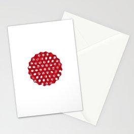 Lantern of white polka dots Stationery Cards