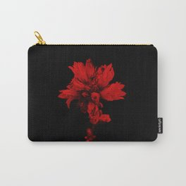 Flower in Black&Red Carry-All Pouch