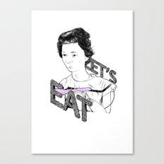 Let's Eat Canvas Print