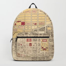 Vintage Map of The Washington D.C. Mall (1917) Backpack