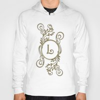 monogram Hoodies featuring Monogram L by Britta Glodde