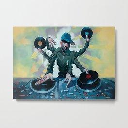 Disc Jockey DJ Master Mixing Metal Print