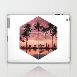 SUNSET PALMS- Geometric Photography Laptop & iPad Skin