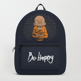 Be Happy Little Buddha Backpack