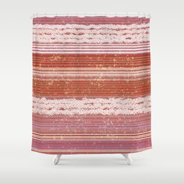 Abstract in shades of red and creamy Shower Curtain