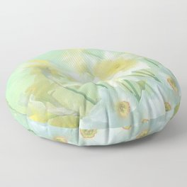 Spring Daffodils Floor Pillow