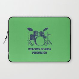 Weapons Of Mass Percussions Funny Drums Vintage Drummer Distressed Laptop Sleeve