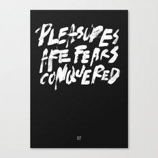 PLEASURES Canvas Print