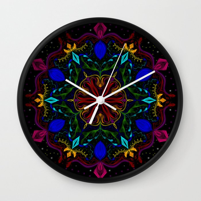 Carnival of Twisted Rainbows Wall Clock