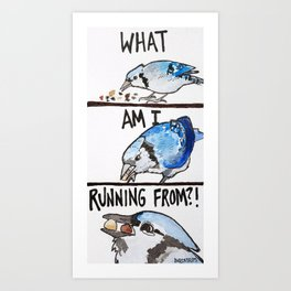 Bird no. 220: Compulsive Consumption Art Print