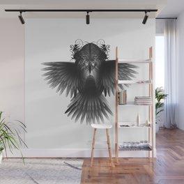Strange Hummingbird 1.Black on white background. Wall Mural