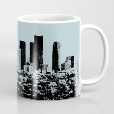 Downtown Los Angeles Skyline - Stamp Pattern on Light Blue Mug