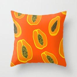 Sarah - papaya Throw Pillow