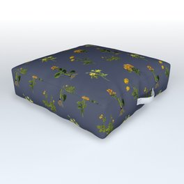 YELLOW FLOWERS Outdoor Floor Cushion