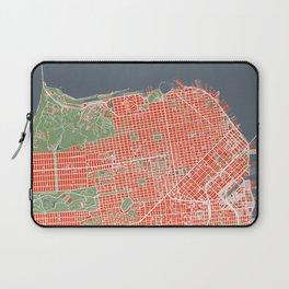 San Francisco city map classic Laptop Sleeve