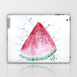 Watermelon summer watercolor illustration, food illustration, fruit Laptop & iPad Skin