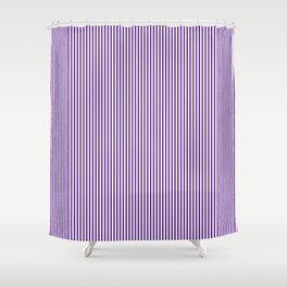 Purple Pinstripes Shower Curtain