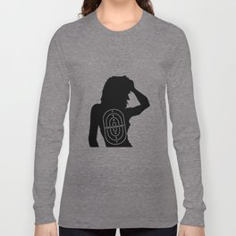 Female Human Shape Target Long Sleeve T-shirt