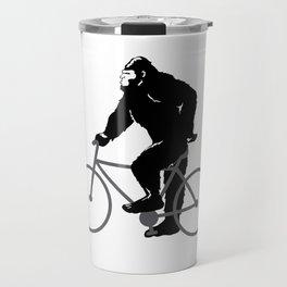 Bigfoot  riding bicycle Travel Mug
