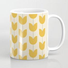 Yellow Tulip Pattern Coffee Mug