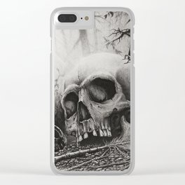 A Distance Silence Clear iPhone Case