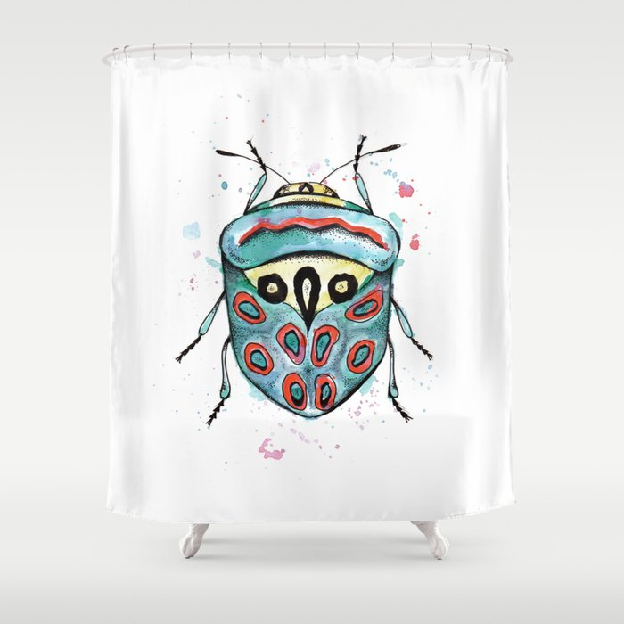 The Picasso Bug Shower Curtain