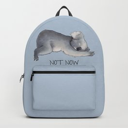 Koala Sketch - Not Now - Lazy animal Backpack