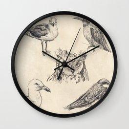 Bird vintage sketches Wall Clock