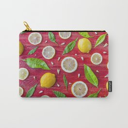 Fruits and leaves pattern (34) Carry-All Pouch