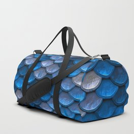 Mermaid Blues Scales Duffle Bag
