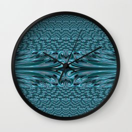 Waves 3 Fractal Wall Clock