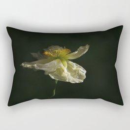 White Poppy Blossom Rectangular Pillow