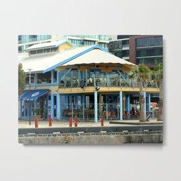 The blue Restaurant Metal Print