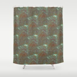 Kacha - Wild mandala pieces K of Alphabet collection Shower Curtain