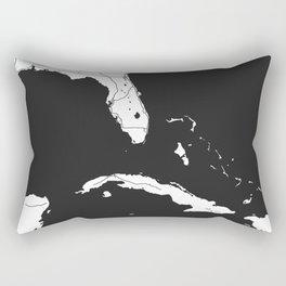 Florida, Cuba, Dominican Republic, Haiti, Jamaica Map Rectangular Pillow