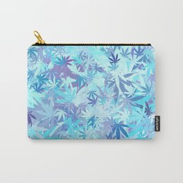Marijuana Cannabis Weed Pot Shades of Blue Carry-All Pouch