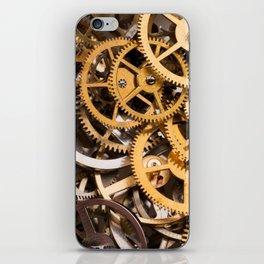 Cogwheels background iPhone Skin