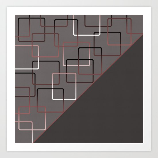 ABSTRACT GEOMETRIC Art Print