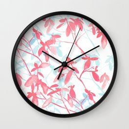 Premonition (Coral Mint) Wall Clock