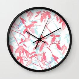 Premonition (Coral Mint) Wall Clock