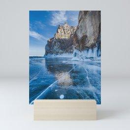 Blue Ice of the Lake Baikal Mini Art Print