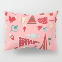 Vintage Christmas Pink Pillow Sham